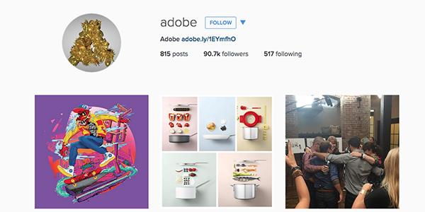Top 5 B2B Instagram profile http://t.co/WhDcdUVeiQ - featuring @Adobe http://t.co/QYqkQbBkcv