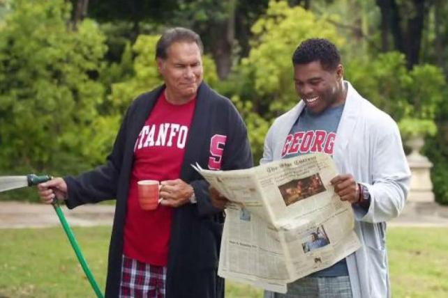 """Things get awkward at Nissan's """"Heisman House."""" http://t.co/WwwziKvHlG http://t.co/W0Iv9EleOK"""