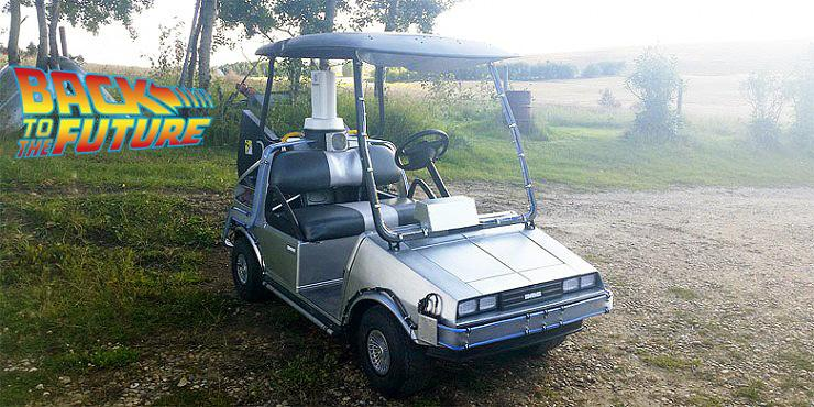 Great Scott! This 'Back to the Future' DeLorean Golf Cart Is So Detailed It Even Has A Flu… http://t.co/LRLqEL3s1L http://t.co/QVZDBzDLvc