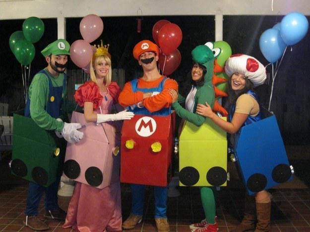 "BuzzFeed DIY On Twitter: ""This Mario Kart Group Halloween"