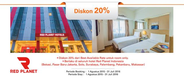 Bni Promo على تويتر Diskon 20 Utk Kamar Di Seluruh Red Planet Hotel Indonesia Dg Kk Bni S D 31jul16 Info Http T Co 0ottpio10i Http T Co S7v9mowcqz