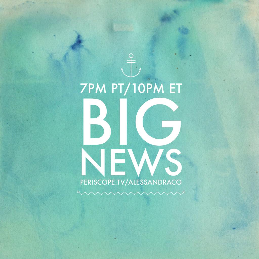 Join me tonight @ 7pm PT/10pm ET on the @periscopetv app for some big life/biz news! http://t.co/U1IQAWEdyO