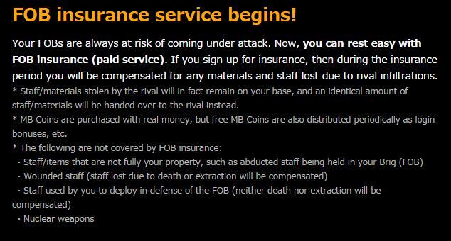 Metal Gear Solid V: The Phantom Pain presenta un seguro de pago para su modo FOB 2