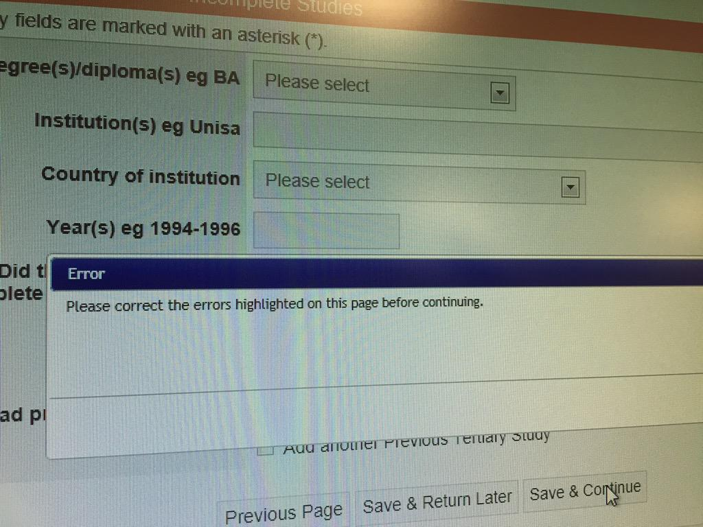 unisa application form for 2015