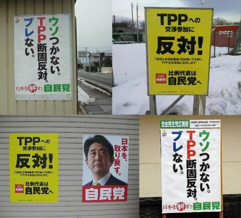 TPPにどのような立場であれ忘れないよ。TPPは民主党が始めた交渉であり、自民党はTPP反対を掲げて選挙に勝ったこと、そのとき「嘘つかない」だの「ぶれない」だのとポスターに書いたことは、ずっとネットに漂い続ける。 http://t.co/hOWMlJwcVM