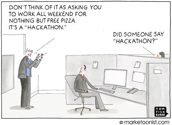 Corporate hackathons have gone mainstream... https://t.co/vQAhC8KV1G http://t.co/oSKatHrsrW