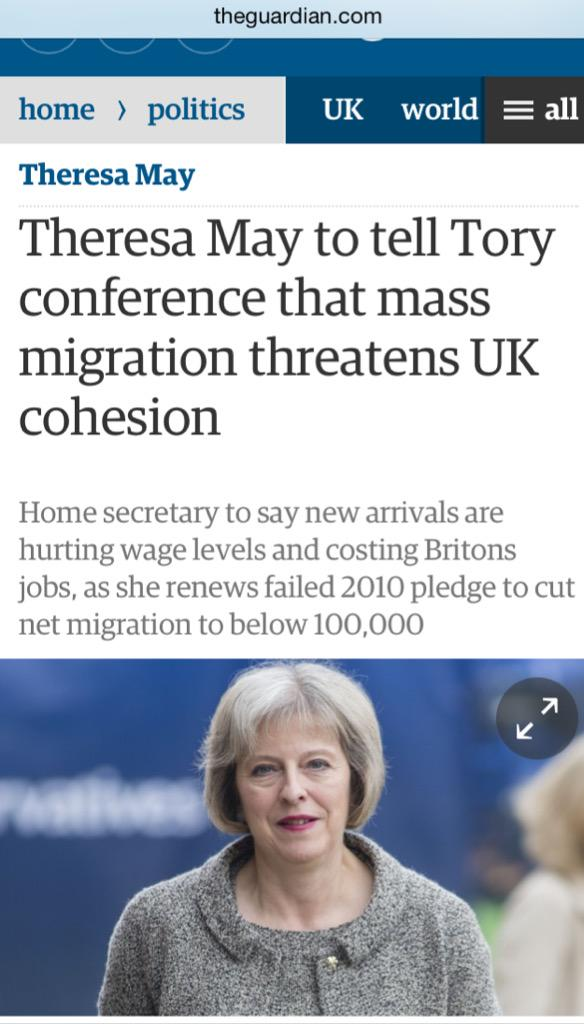 """""""I hated those 3 or 4 weeks when we couldn't dehumanise migrants and blame them for everything. So glad that's over"""" http://t.co/kfDhEJHHi7"""