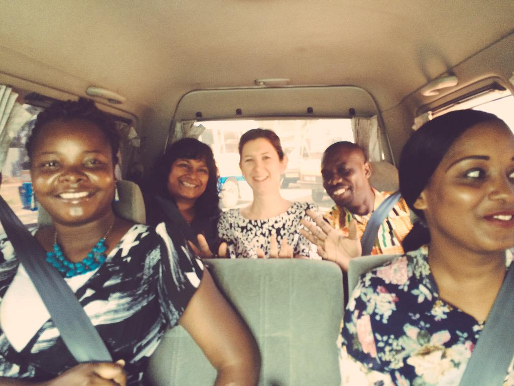 En route (slowly, in Dar traffic) with directors and @SautiyaVijana gurus to meet EU, DFID #Tanzania. #WeAreRestless http://t.co/T1IEAiAz9C
