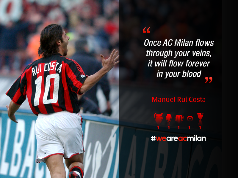 ac milan on twitter quote of the week rui costa once. Black Bedroom Furniture Sets. Home Design Ideas