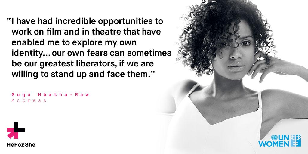 RT @HeforShe: Drawing from her own experiences, Gugu Mbatha-Raw tells @Cambridge_Uni students to face their fears. #GetFreeTourUK http://t.…