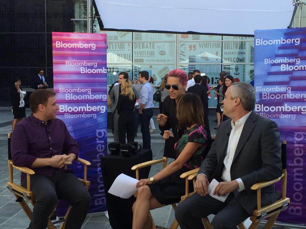 That feel when Jared Leto interrupts your live Bloomberg interview. @stewart @emilychangtv http://t.co/14B8vmj9Zd
