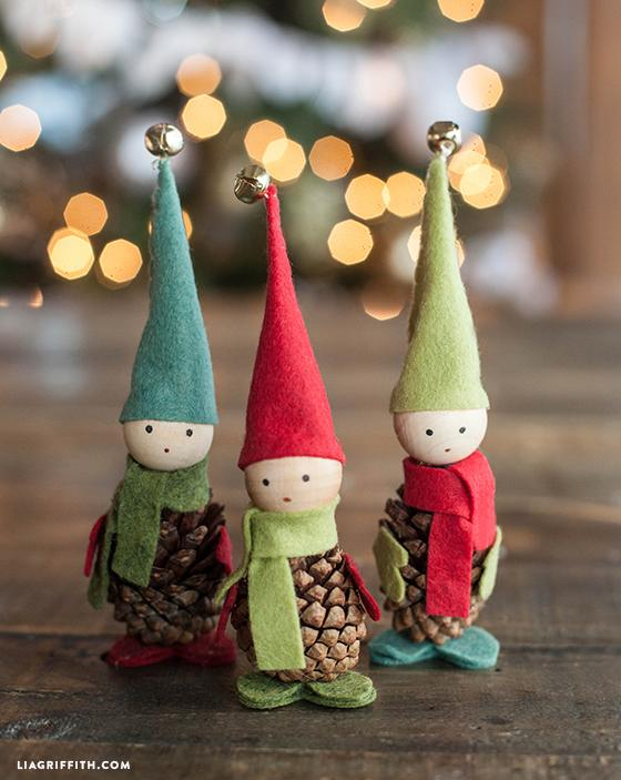 RT @HandmadeFair: The Handmade Christmas Fair is in just 6 weeks and we're getting in the spirit with @liagriffith's pine cone elves! http:…