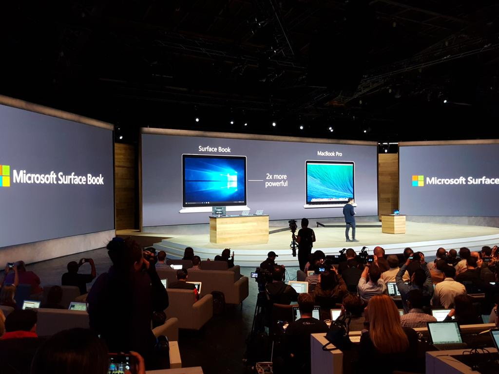 """""""This is the fastest 13-inch laptop ever made, anywhere, on any planet."""" #surfacebook http://t.co/0V31dbwK0A"""