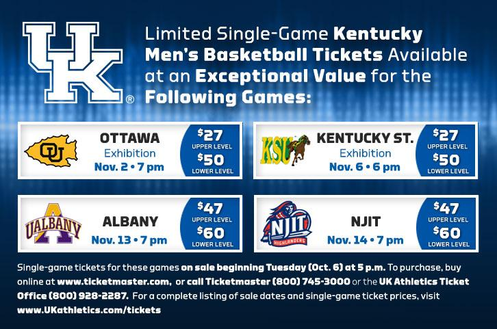 Single-game tickets to the first four basketball games go ...