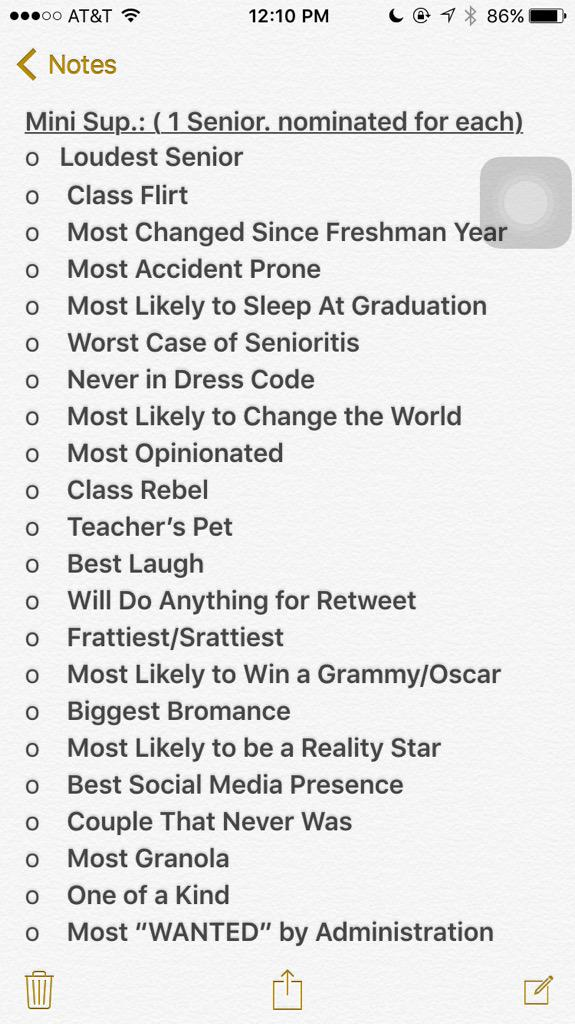 johns creek yearbook on twitter seniors voting for superlatives