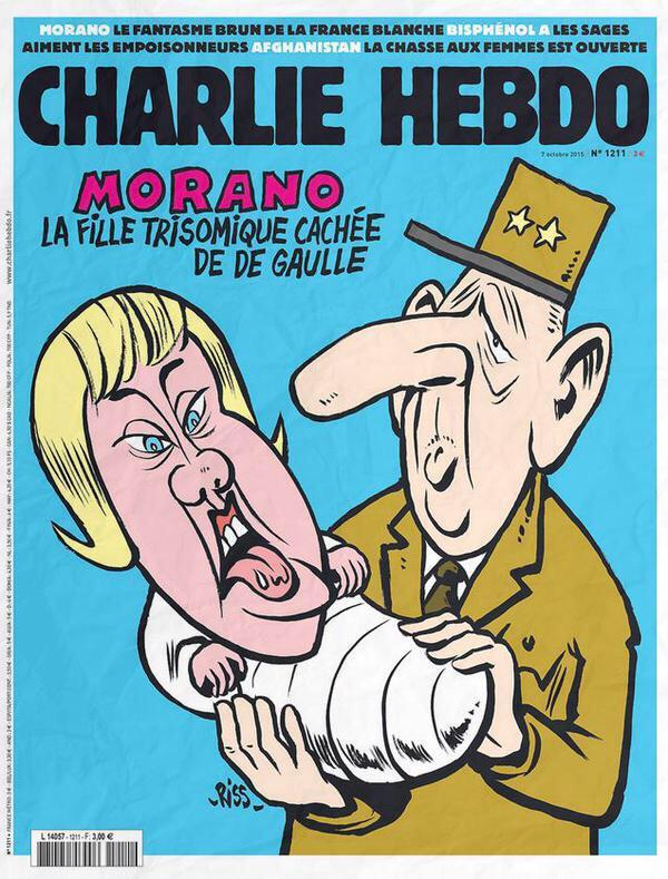Morano en trisomique dans «Charlie Hebdo» : une association va porter plainte - Libération