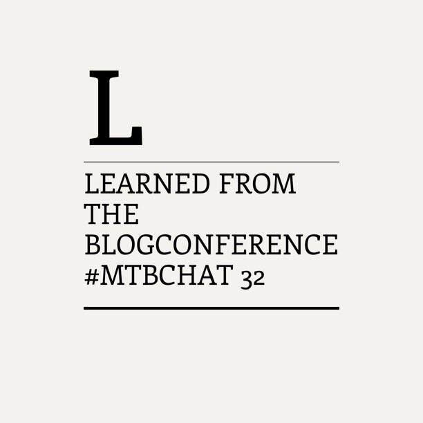 Joining #MTBchat in an hour? What you learned from #bloggers and brands at the blogconference. Also for non-attandees http://t.co/nScGiIA7Qd