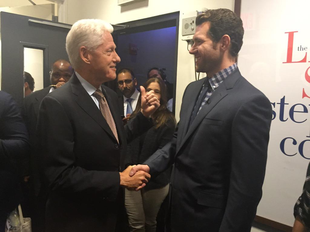 """RT @billyeichner: .@billclinton just said """"maybe 1 day I'll join u on the street & play 1 of your goofy games."""" It's been quite a day. http…"""