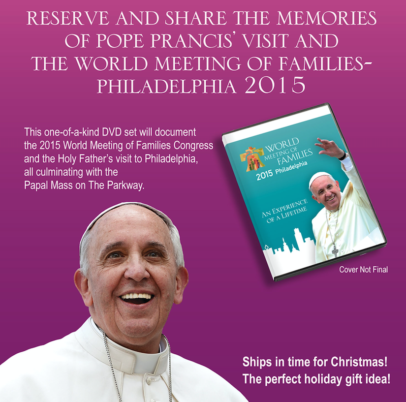 Memories to last a lifetime! Order your DVD w/ the Papal Mass and special moments from Congress #popeinphilly http://t.co/LtJgac2ucr