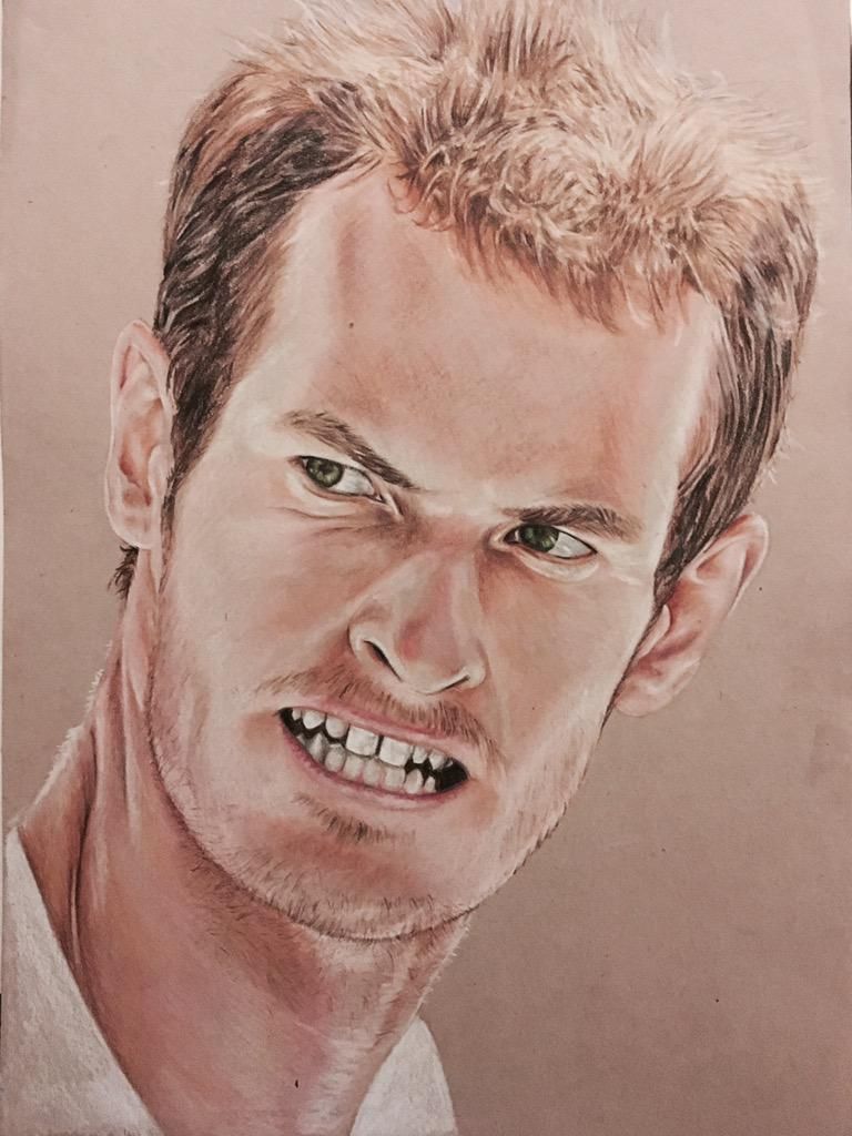 RT @allanforrest88: Just finished my latest coloured pencil drawing. What you think @andy_murray and @judmoo ? #Art http://t.co/tM7k83gJeT