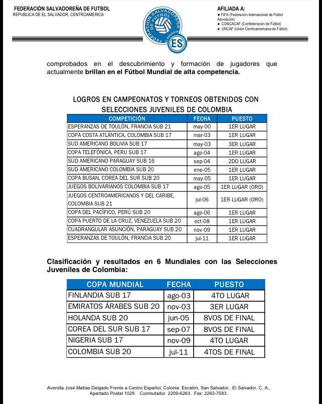 Nuevos coordinadores de selecciones: profesores Eduardo Lara y Jose Elmer Silva. CQqchXoUsAAV824