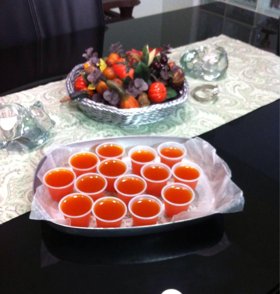 Linda On Twitter Fireball Jello Shots Orange Jello Made Wapple