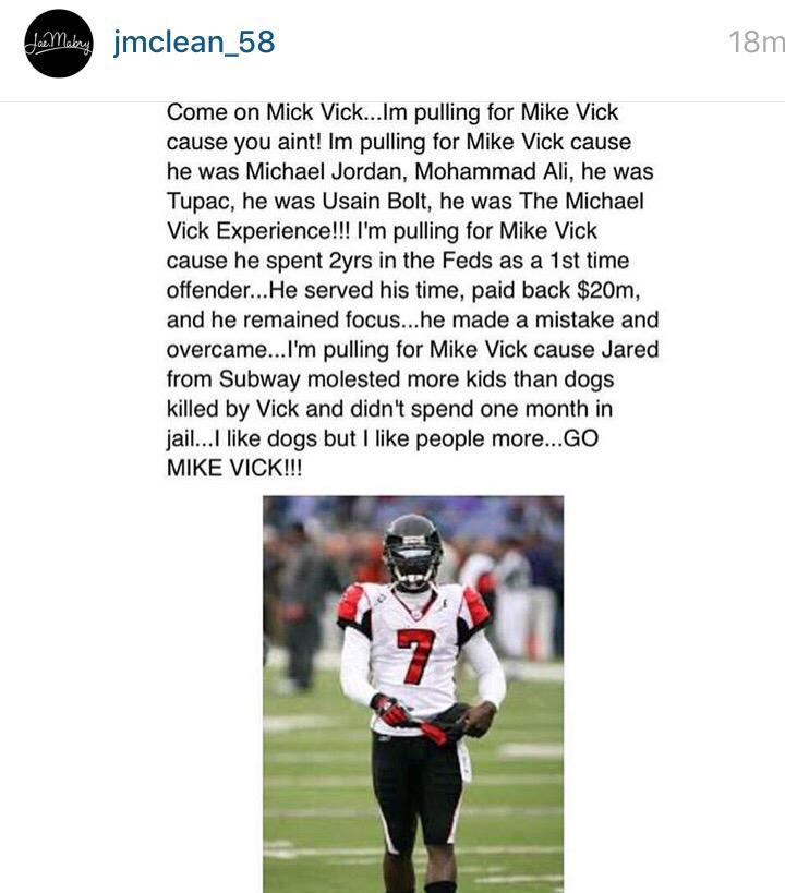 Come on Mike Vick #respect http://t.co/63M6jvkXIG