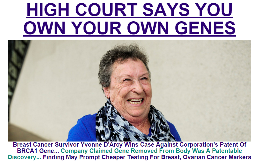 Thumbnail for Yvonne D'Arcy defeats Myriad Genetics in the High Court of Australia