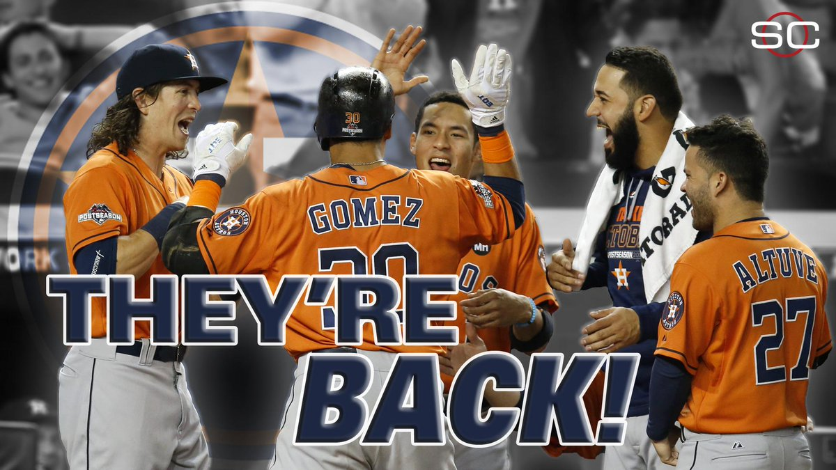 2 years ago, the Astros lost 111 games. Now, they're in the ALDS.  Astros blank Yankees, 3-0.