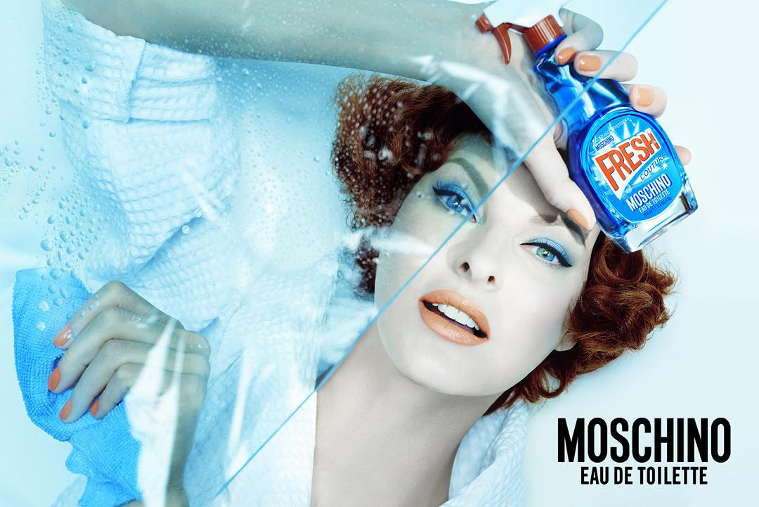 b42b7e3cca fresh the new moschino fragrance linda evangelista shot by steven meisel  and styled by carline cerf