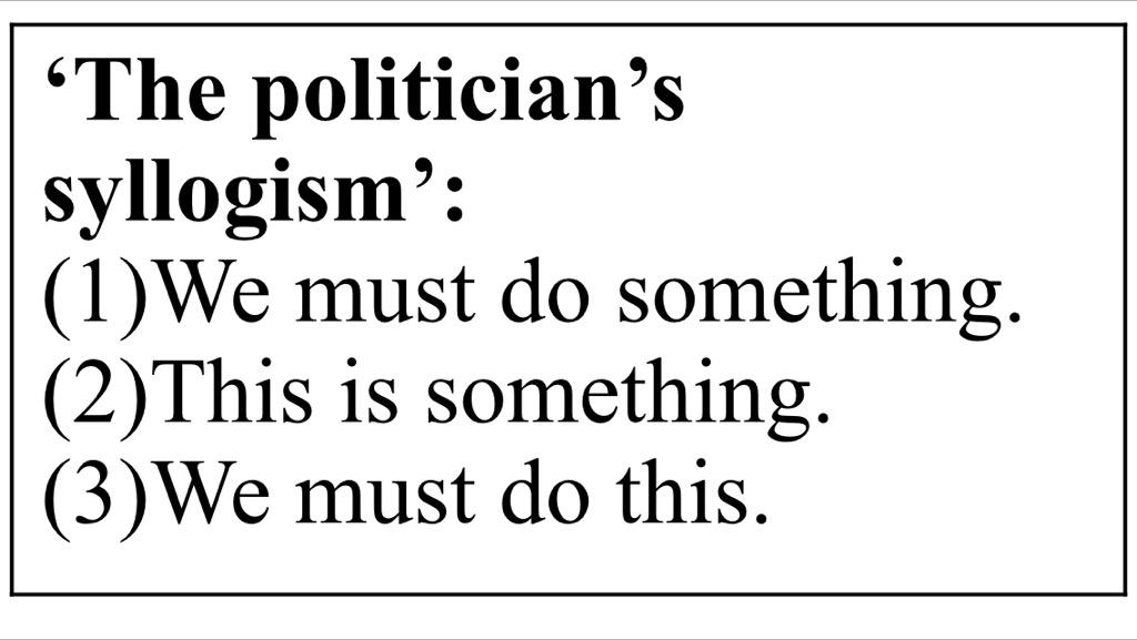 Image result for politician's syllogism