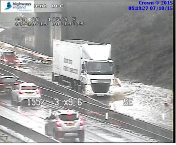 Pls be aware there is slow moving traffic both ways #A1 btwn the two A6136 #Catterick junctions following heavy rain http://t.co/sPQQaB8p6v