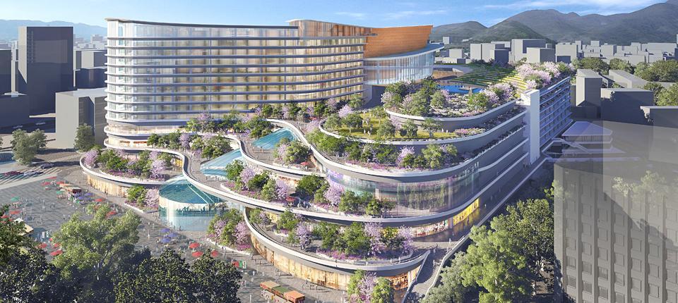 【衝撃】熊本交通センターと下通りのダイエー跡地の再開発の予定がものすごい。 pic.twitter.com/xUL1O4EWS4