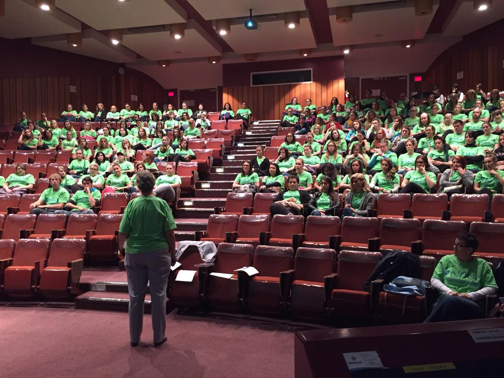 A sea of green, get ready Saint John as we #transformNB #AHEC #NBCC @myNBCC http://t.co/qtREgegjaO