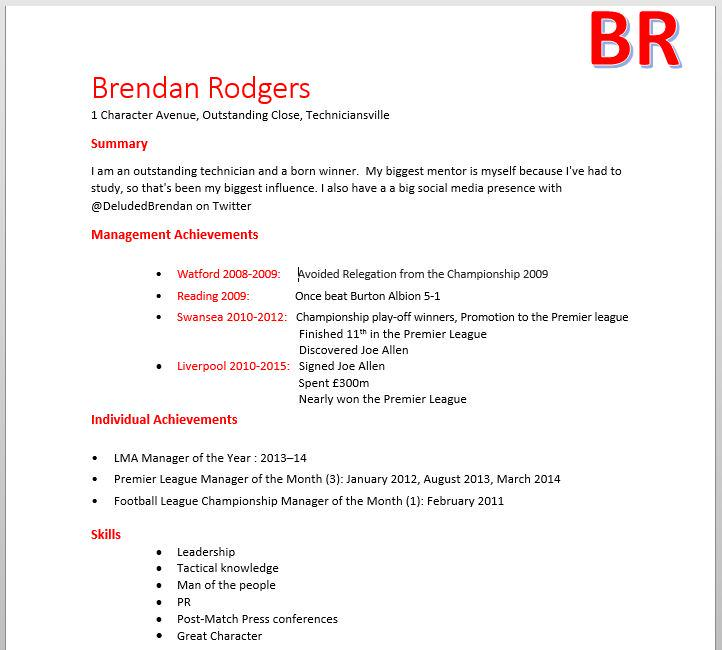 deluded brendan on twitter well that s my cv done http t co