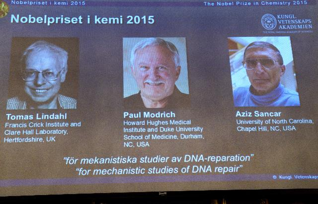 My #chemnobel post: 2015 Nobel Prize In Chemistry For Mapping How Cells Repair Damaged DNA: http://t.co/8I7i5xPtsM http://t.co/BmJmdw4AOO
