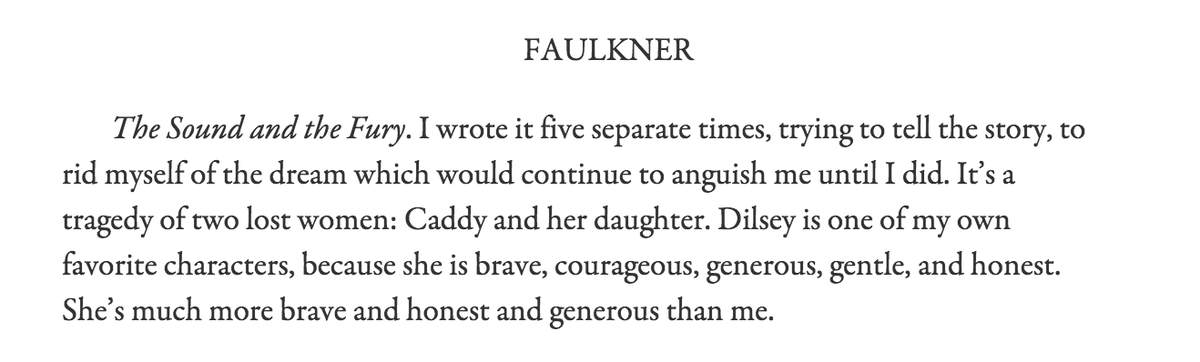 character analysis of caddy in william faulkners the sound and the fury Following a combination of textual and cultural analysis william faulkner's the sound and the fury was first published in 1929 character was undermined.