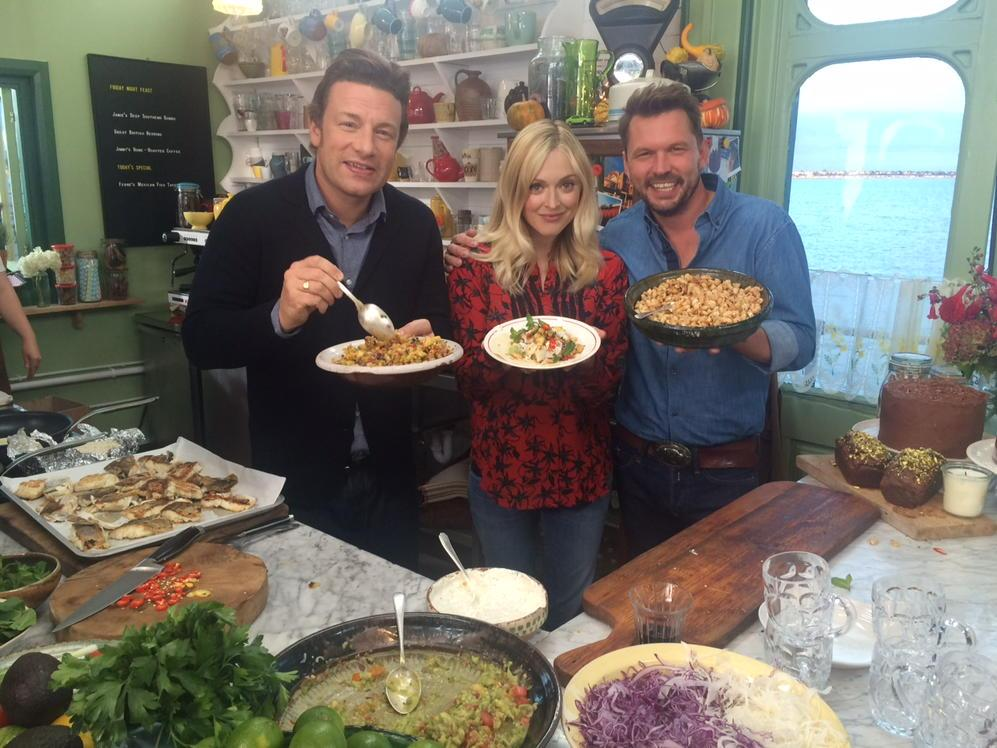 Actually I can reveal now what I've been up to today! I've been cooking some heavenly grub with these two lovelies http://t.co/wOETM9cBZS