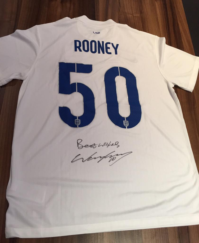 I'm giving away 3 exclusive Eng shirts to celebrate my record 50th goal. Follow and RT to have a chance of winning! http://t.co/mnKVVnkXOv