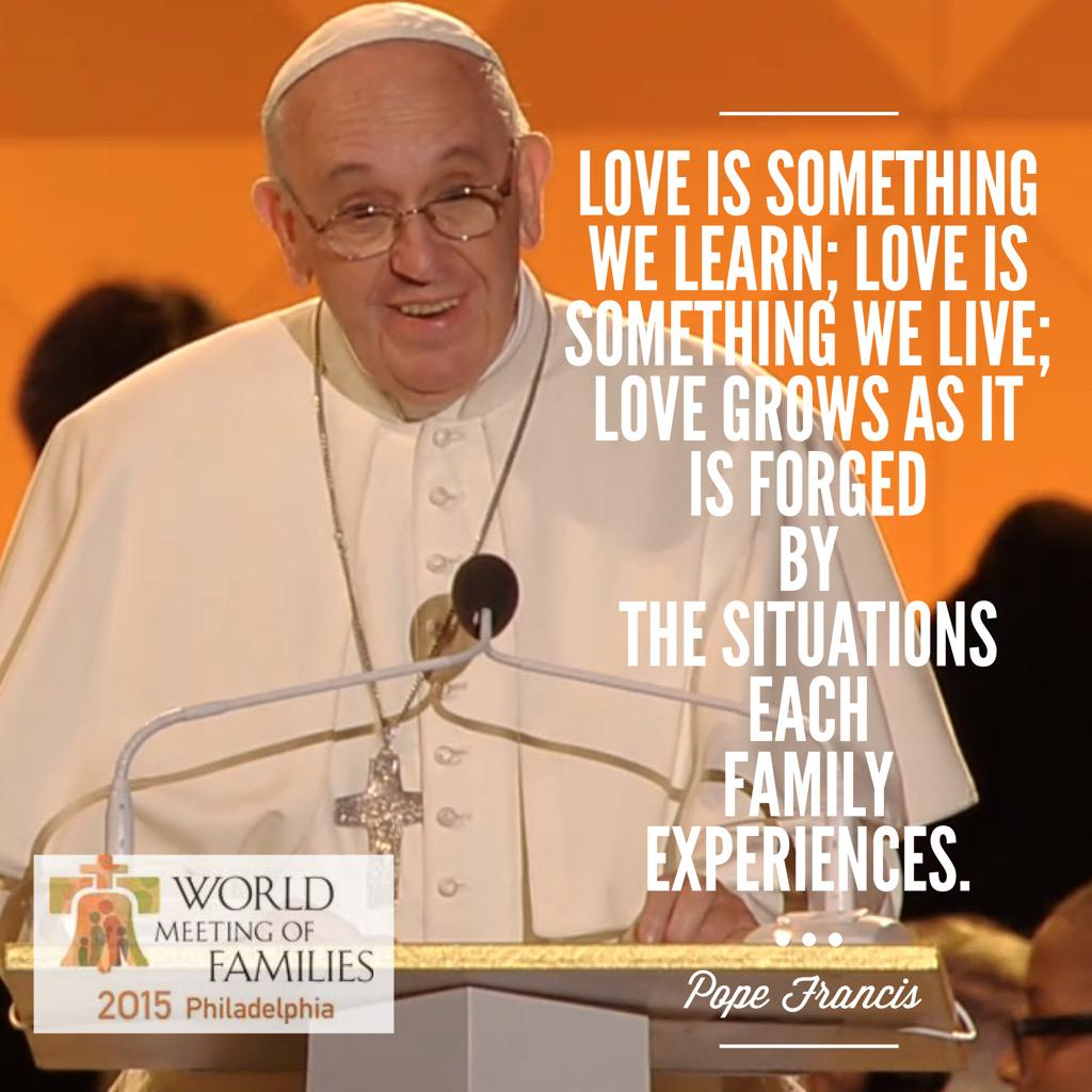 Quotes from Pope Francis #WisdomWednesday #PopeInPhilly - share your favorites today! http://t.co/7odZ0JqhNX