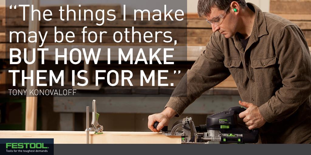 Wise words from #woodworking master Tony Konovaloff. http://t.co/xuwO1MDB1I