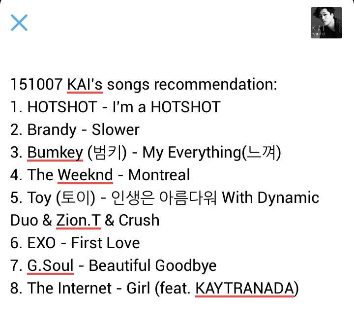 Kai songs exo