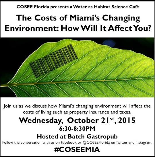 Get ready for Round 2 of #Miami's Changing #Environment! Grab a ticket early! http://t.co/JdtjpH0764 #COSEEMIA http://t.co/K6MoiPS4rF