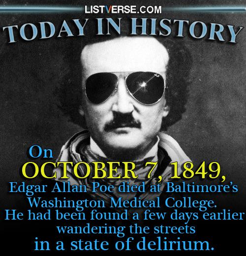 Still missed today, buddy. #EdgarAllanPoe #TODAYINHISTORY http://t.co/KDiy4DDnUT