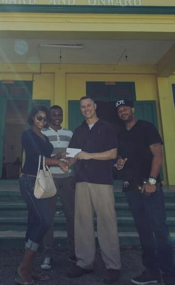 BNM makes cash donation to the Alpha Boys School here seen with  Alpha admin rep is Mink Jo ,Yemi and Farenizzi http://t.co/bMuFNok1bp