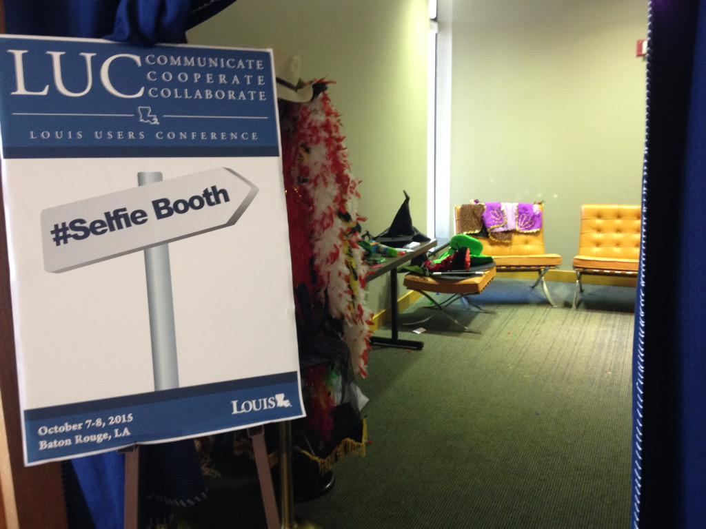 The #selfie booth is lonely! #louisuc15 http://t.co/3MJD57ez9s
