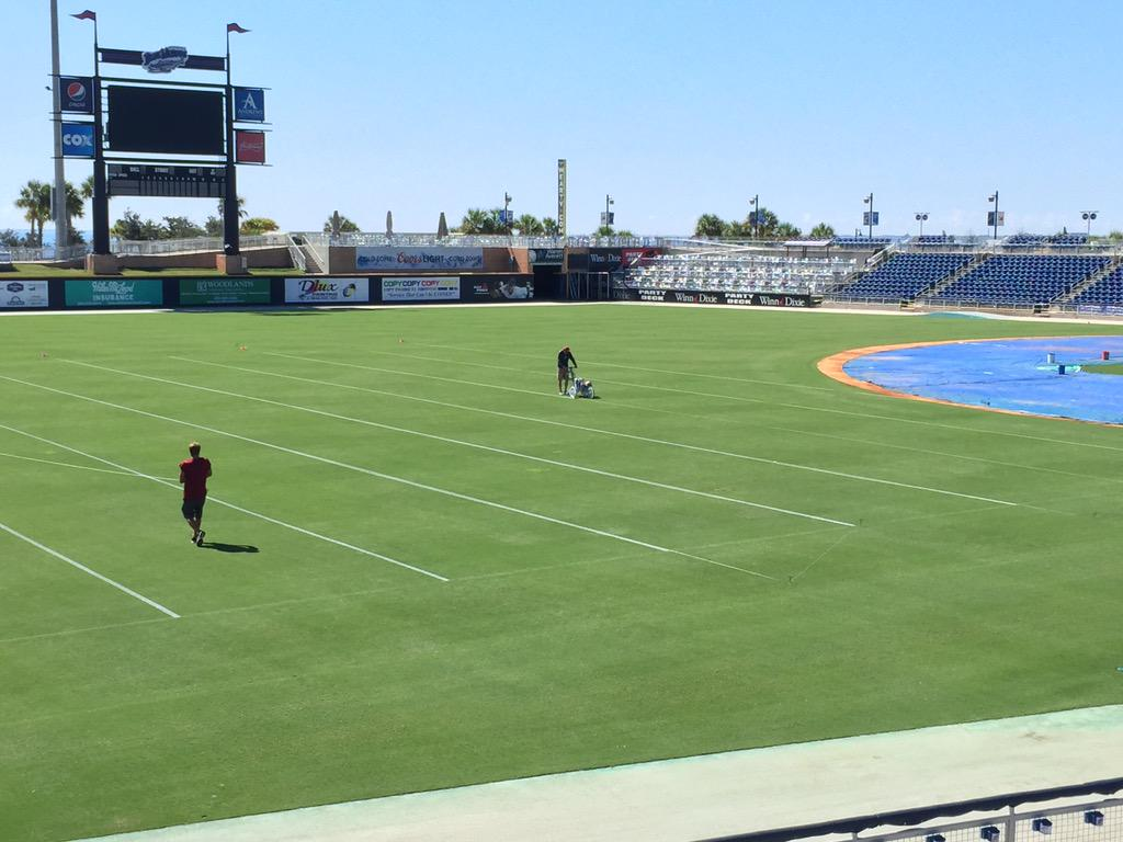 Our field is slowly changing from being measured in feet to yards! Are you ready for Soul Bowl and @UWFFootball?!? http://t.co/i7i9Evl83J