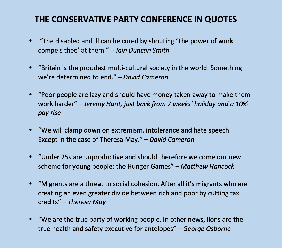 A reminder of the key quotes from the Tory conference. #bbcqt http://t.co/pSeRrqNRni