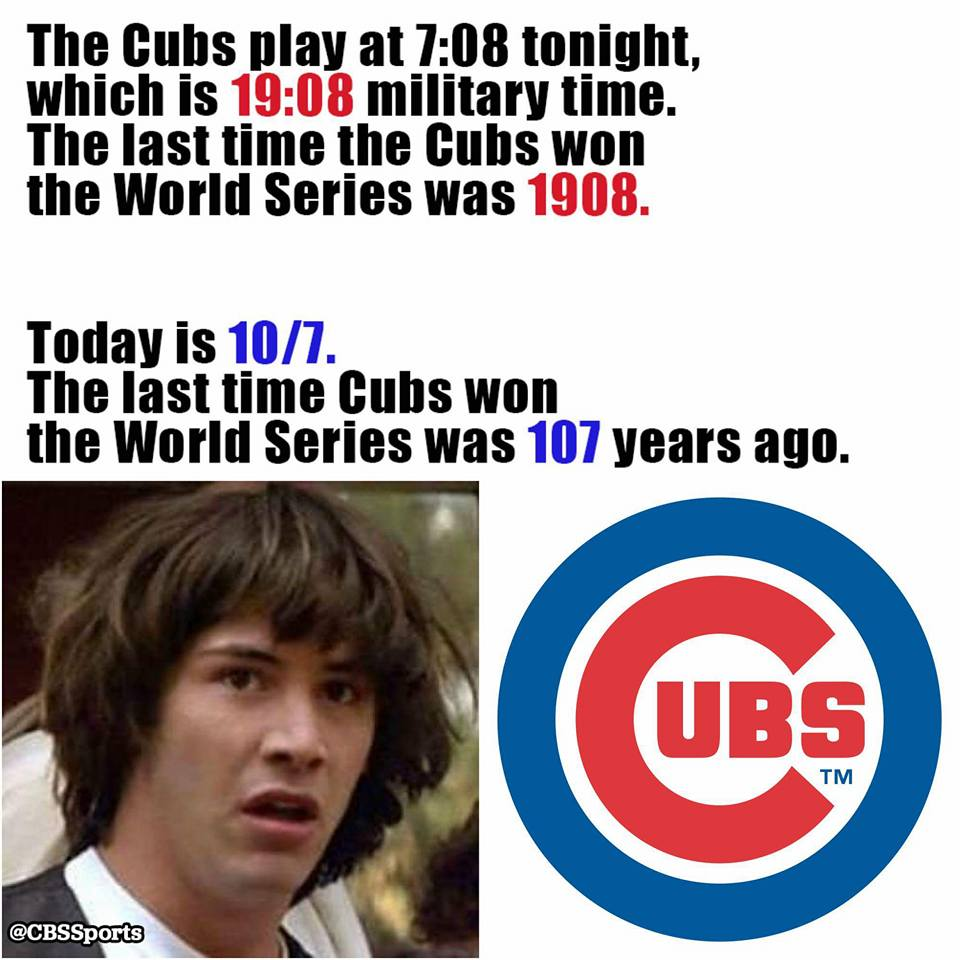 #Cubs to win tonight? Too spooky - http://t.co/JoDhRgt7LD http://t.co/xa2qDHroQS