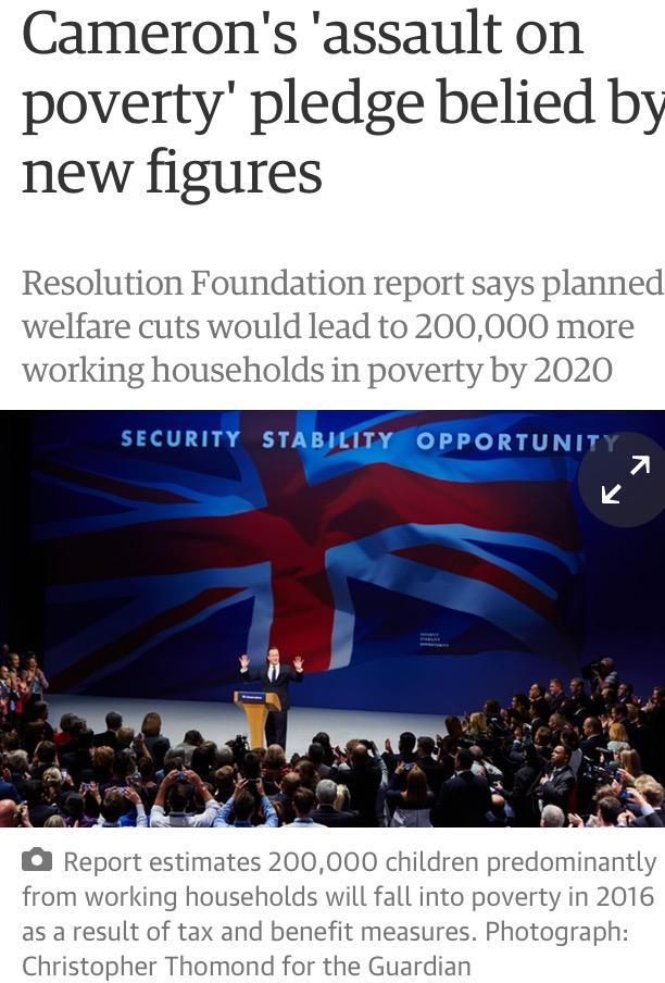 """Cameron announces """"all-out assault on poverty*"""".  *the poor http://t.co/NcYnQr8NzN"""